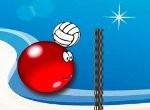 Červený a zelený volejbal