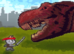 Ninja Cat and Zombie Dinosaurs